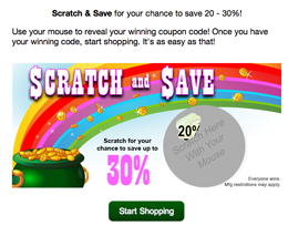 Promotional scratch-off